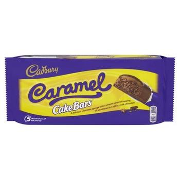 Cadbury Caramel Cake Bars 130g