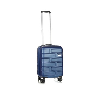 American Tourister Hard Luggage 4  Wheels Trolley Set -Bricklane 55 Cm Oxford Blue