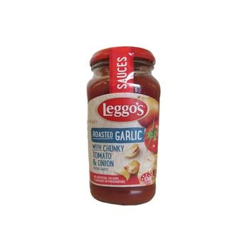 Leggo'S Roasted Garlic With Chunky Tomato & Onion Pasta Sauce 500g