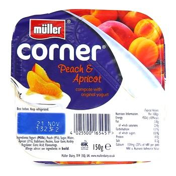 Muller Fruit Corner Peach & Apricot 150g