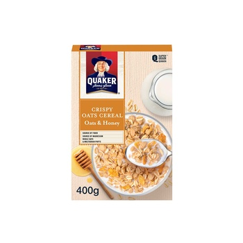Quaker Cereal Oats & Honey 400g