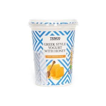 Tesco Honey Greek Style Yoghurt 450G