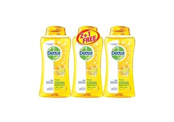 Dettol Fresh Bodywash 2 x 250 ml + 250 ml Free
