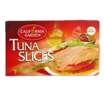 California Garden Tuna Slice In Chili 120g