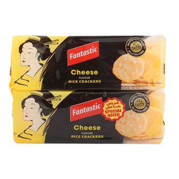 Fantastic Rice Cracker Cheese 2 x 100g