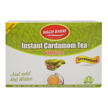 Wagh Bakri Unsweetened Cardamon Instant Tea Premix 140g