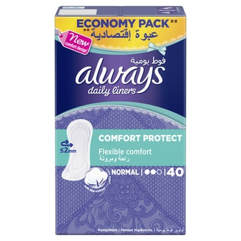 Always Comfort and Protection Liner 40 pcs