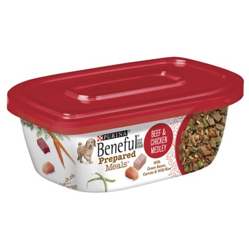 Purina Wet Dog Food Beneful Meal Beef & Chicken Medley Tub 283g