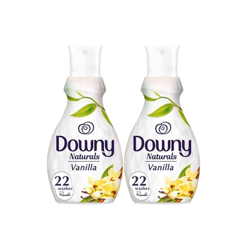 Downy naturals concentrate fabric softener vanilla 880ml pack of 2