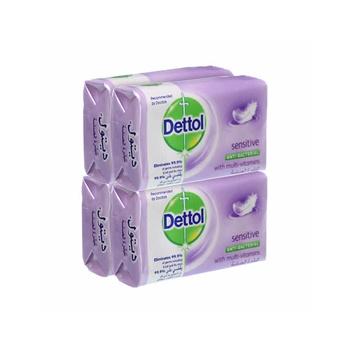 Dettol Sensitive Anti Bacterial Bar Soap 120g X Pack Of 4