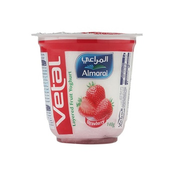 Almarai Yoghurt Vetal Strawberry 140g