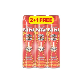 Pif Paf Fkd Flying & Mosquito Killer 400ml Pack of 3