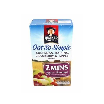 Quaker Oats So Simple Sultana/Raisins/Apple/Cranberry 297g
