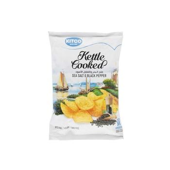 Kettle Cooked Ptato Seasalt &Black Pepper 40g