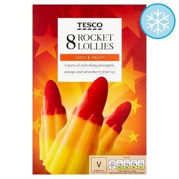 Tesco Goodness Rocket Lollies 8X58ml