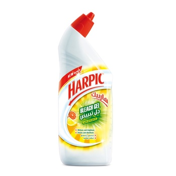 Harpic Toilet Bowl Cleaner Bleach Gel Lemon & Grape Fruit 750ml