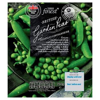 Tesco Finest British Garden Peas 750g