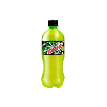 Mountain Dew, Carbonated Soft Drink, Plastic Bottle, 500ml