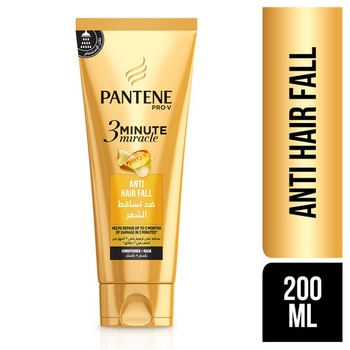 Pantene Pro-V 3 Minute Miracle Anti-Hair Fall Conditioner + Mask 200 ml