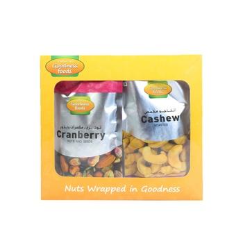 Goodness Foods Cranberry Nut 200g+Cashew 175g
