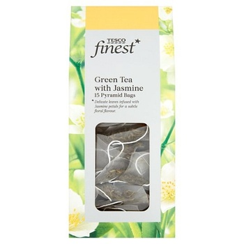 Tesco Finest Green Tea With Jasmine Pyramid Bags 15s 0g