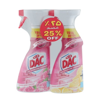 Dac All Purpose Cleaner Rose + Lemon 500ml Pack Of 2