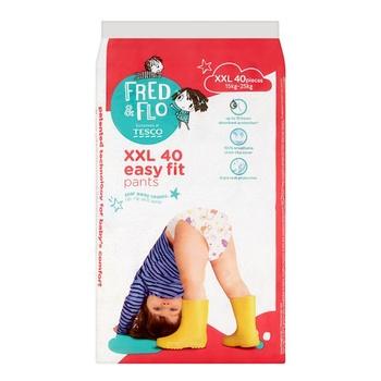 Tesco Fred & Flo Baby Pant XXL 40 Pieces