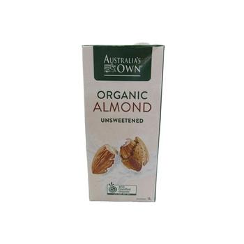 Australias Own Organic Almond Unsweetened 1 ltr