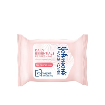 Johnsons Facial Wipes Normal Skin 25S 2