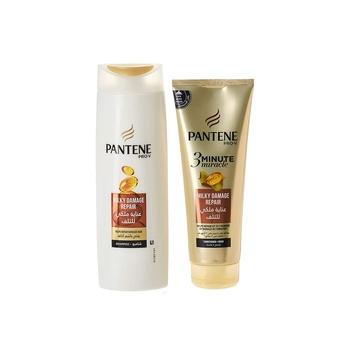 Pantene Pro-V 3 Minute Miracle Milky Damage Repair Conditioner & Mask 200ml + Shampoo 400ml
