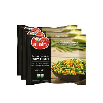 Al Ain Mixed Vegetables 3 X 400g