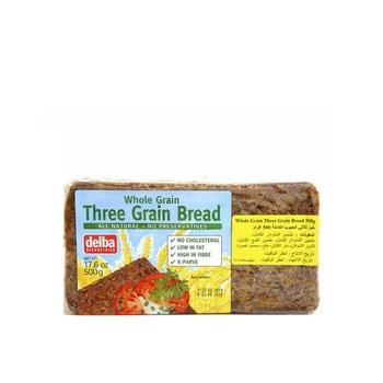 Delba Whole Gain 3 Grain Bread 500g