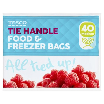 Tesco Handle Freezer Bags Medium 45 Pack