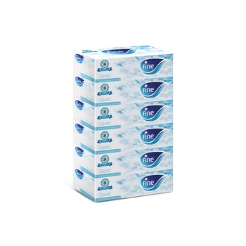 Fine Facial Tissues 200 X 2 Ply 5 + 1 Free