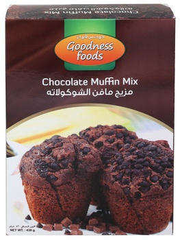 Goodness Foods Chocolate Muffin Mix 430g