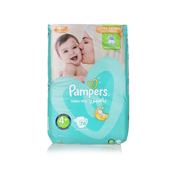 Pampers Active Baby 4 Large (9-20kg) 74pcs