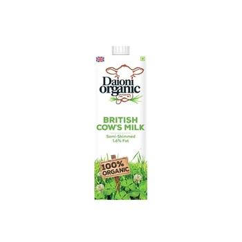 Daioni Organic Semi Skimmed Milk 1 ltr
