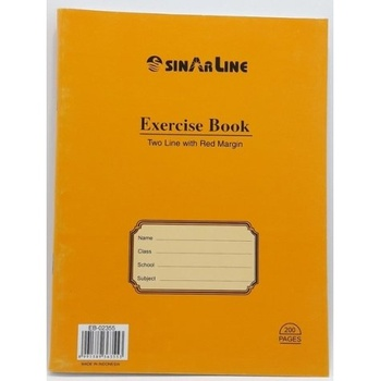 Sinarline  Exercise Book 2 Lines - 100 Sheets