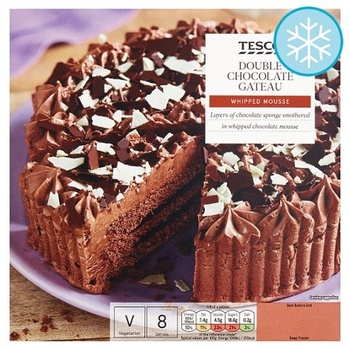Tesco Double Chocolate Gateau 600Gm