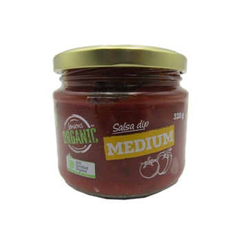 Jensens Organic Salsa Dip  Medium 320g