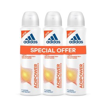 Adidas adipower anti-perspirant deorant body spray for women 3 x 150 ml