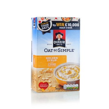 Quaker Oats Cereal So Simple Golden Syrup 360g