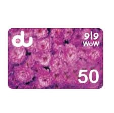 Du Mobile Recharge Card 50 AED