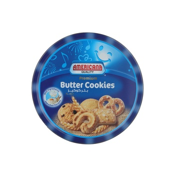 Americana Butter Cookies Tins Small (Blue)