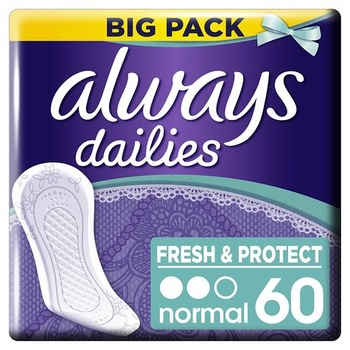 Always Comfort and Protection Liner 60 pcs