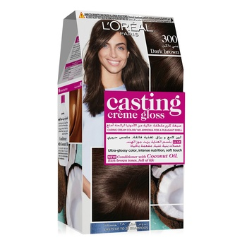 L'Oreal Paris Casting Creme Gloss Hair Color 300 Dark Brown