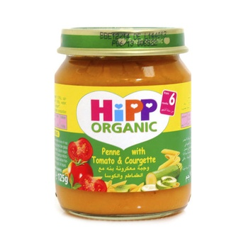 Hipp Organic Baby Food Penne With Tomato & Courgette 125g