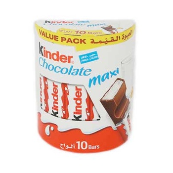 Kinder Maxi Chocolate 10 Bars 210g