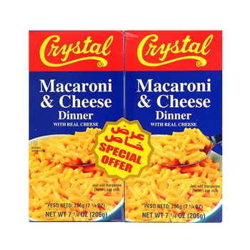 Crystal Macaroni & Cheese Dinner 2 X 206g