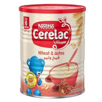 Nestle Cerelac Wheat Dates Infant Cereal Tin Pack 400g